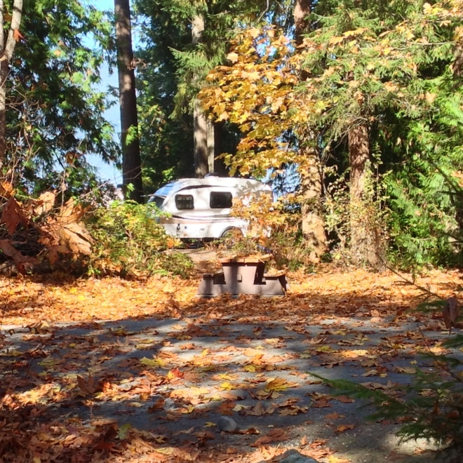 trailer in fall
