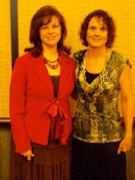 Shannon and me (Jennifer) at the ACFW conference in 2009