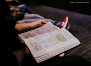 Image of man reading his Bible