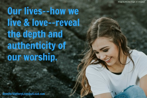 image of a girl with worship quote pulled from text