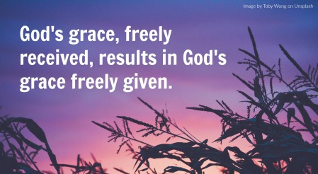 nature image with grace quote