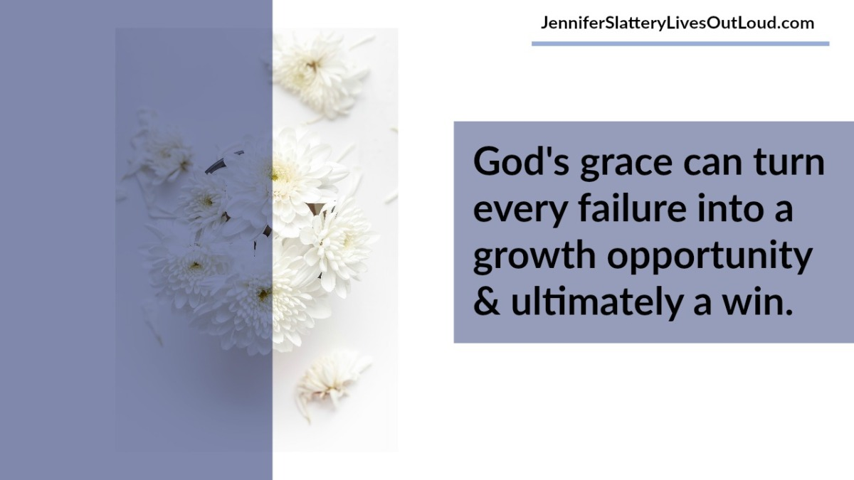 grace quote with flowers in the background