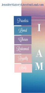 graphic with words describing who we are in Christ