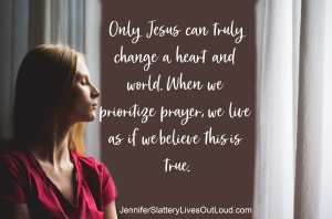 image of woman praying with text pulled from post