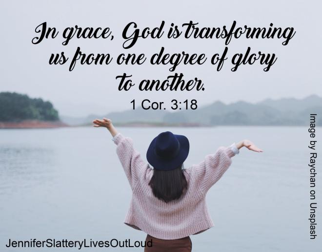 Woman praising and paraphrase of 1 Cor. 3:18