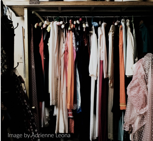 Image of a cluttered closet