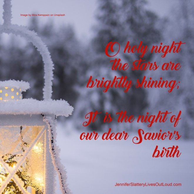 text, winter backdrop, snow covered light