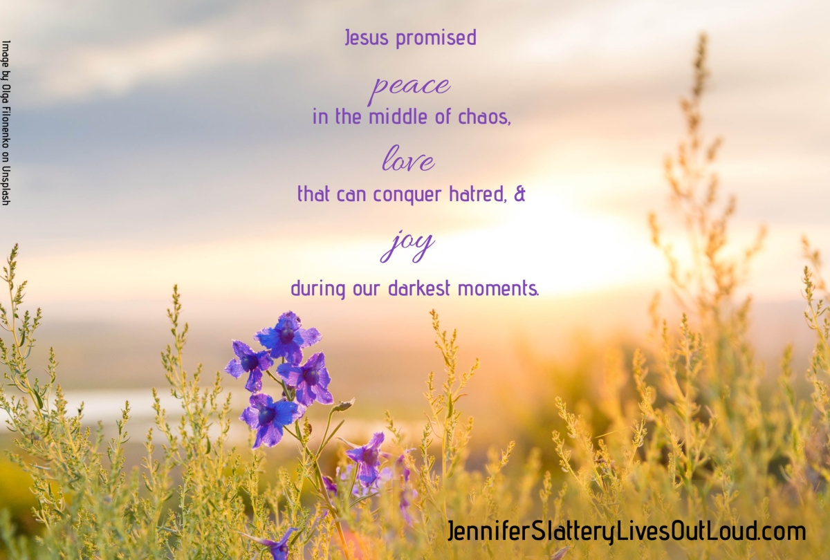 sunrise, flowers, and clouds with quote regarding joy