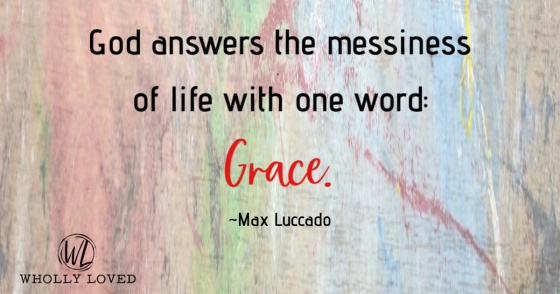 Grace quote from Max Luccado
