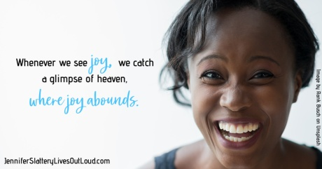 Woman laughing with text pulled from post.