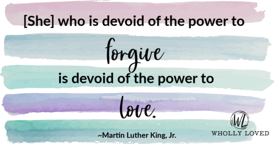 Forgiveness quote by Martin Luther King, Jr.