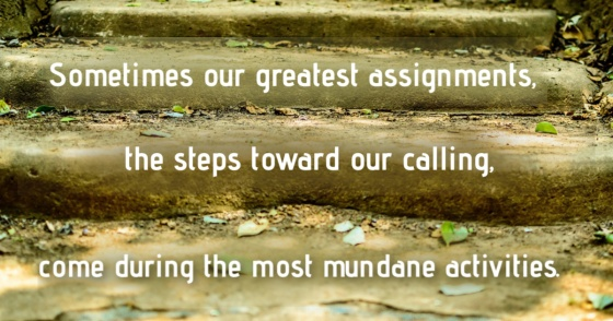 Image of stairs with text pulled from the post