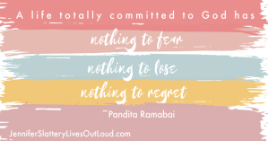 Quote regarding a life committed to God on colorful background