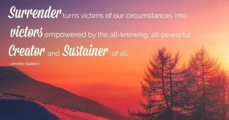 sunrise image with quote on surrender