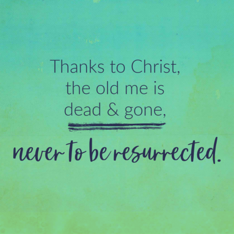 Grace quote with gradiant green background