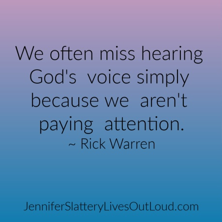 Quote on hearing from God, Rick Warren