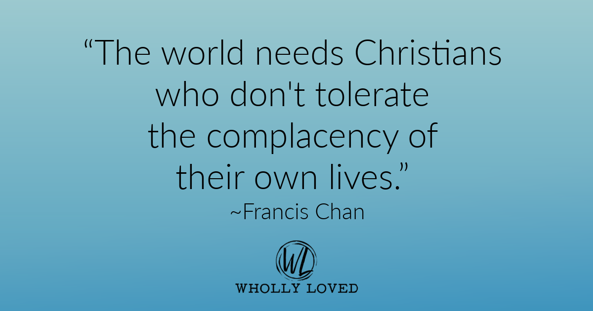 quote from Francis Chan with teal background
