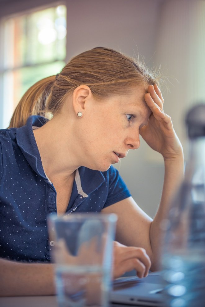 image of a woman under stress