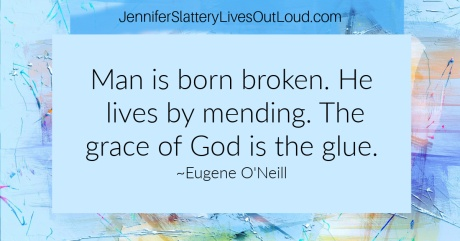 Grace quote on abstract painting backgroun-blue