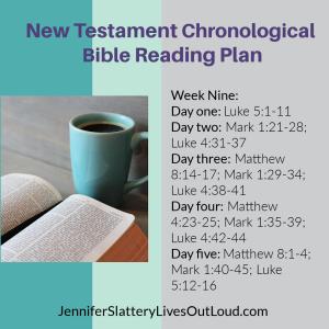 Bible reading plan image week 9