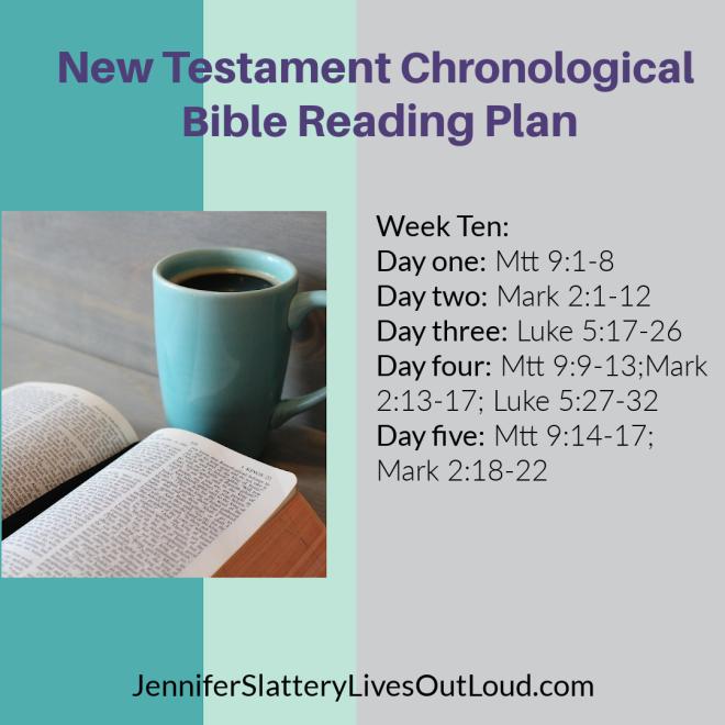 Bible reading plan week 10