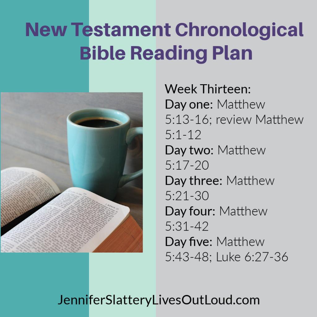 Bible reading plan week 13