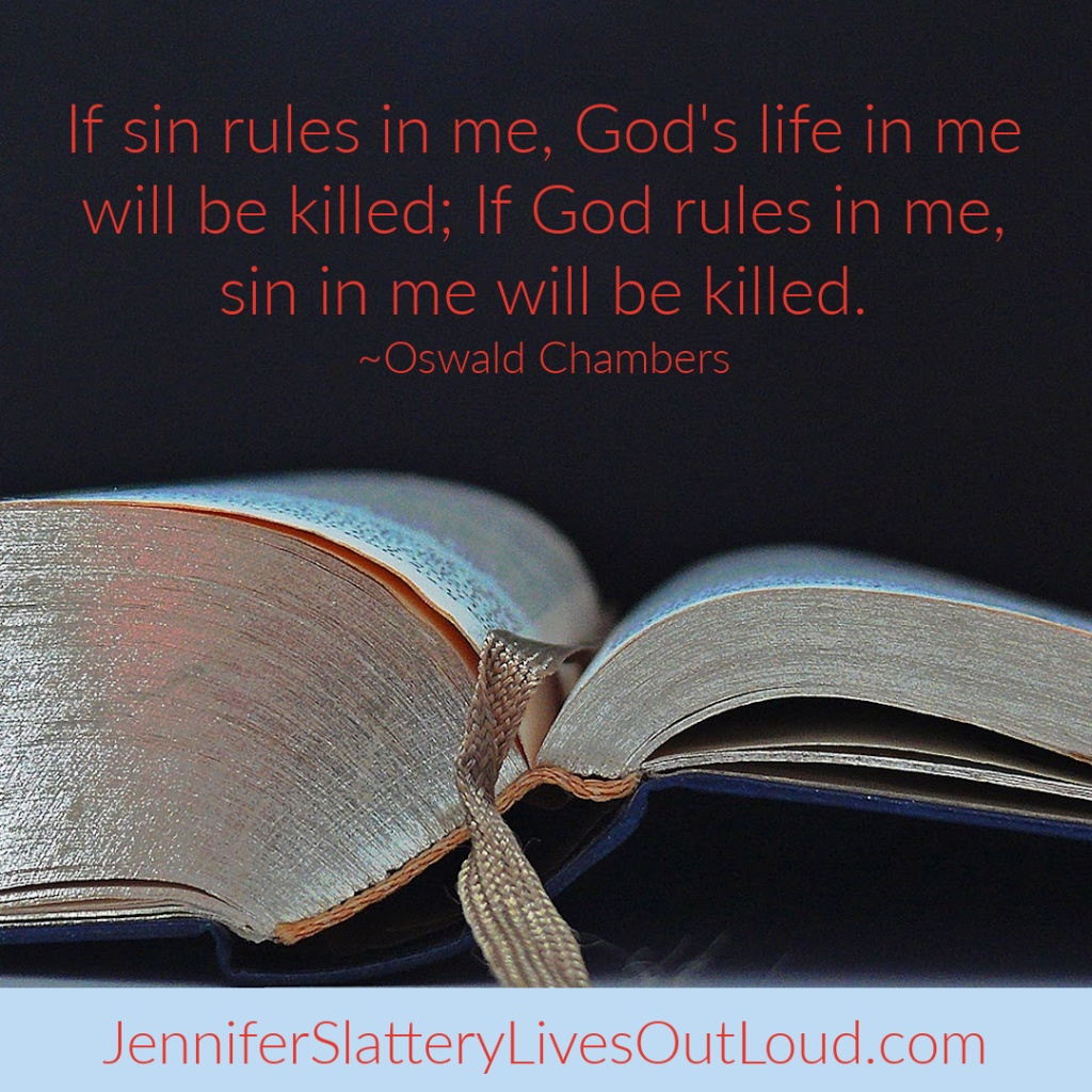 Picture of a Bible with quote from Oswald Chambers