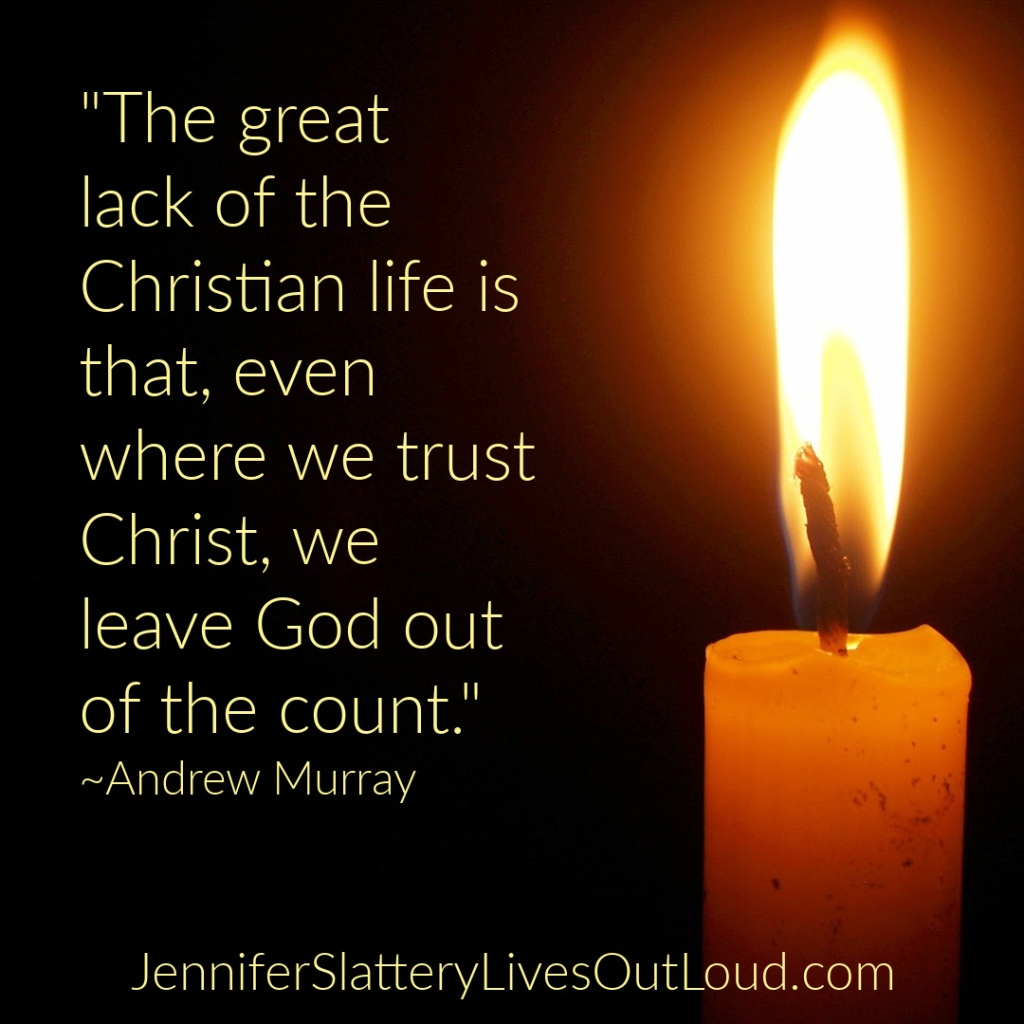 Image of a candle with quote from Andrew Murray.